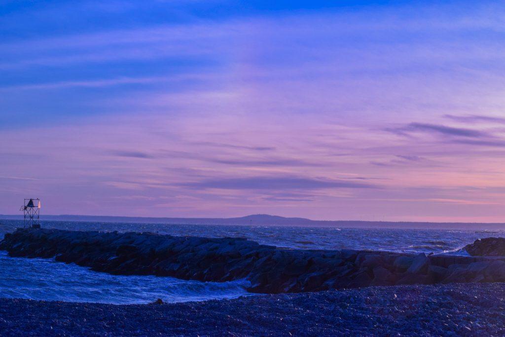 Kennebunkport, ME at sunset.